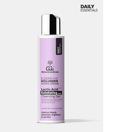 Refining, balancing cleansing gel with lactic acid and from GGs natureceuticals Elderberry Natural Cosmetics